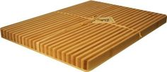 "Island Bamboo 15-3/4-by-11-3/4-Inch Cutting Board and Platter, Honey Stripe by Island Bamboo. $22.87. 15.75"" by 11.75"" by 1"". Bamboo has Natural Antimicrobial Properties, Bamboo is Bonded with Food Grade Glue. Durable, Beautiful, Easy to Clean and Maintain. Bamboo Is A Renewable Resource. A Nice Alternative to Wood Cutting Boards, These are Harder, Less Absorbent and Beautifully Designed A Great Addition to Your Kitchen!. An Island Bamboo original, The Honey S..."