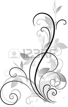 Illustration of ornament vector art, clipart and stock vectors. Swirl Design, Border Design, Pattern Design, Stencil Art, Stencil Designs, Stencils, Tattoo Pulso, Branch Decor, Wood Burning Patterns