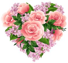 Floral Heart PNG Clipart Image