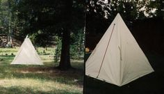 Single Pole Waxed Canvas Tent