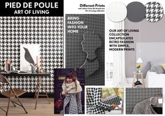 Pied de Poule Wallpaper collection Art of Living - BN Wallcoverings
