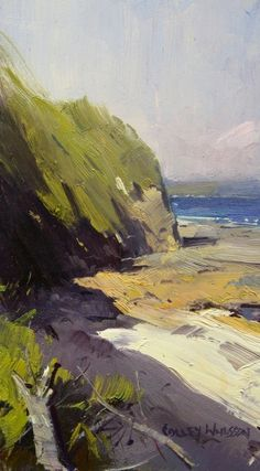 """""""Evening Glow, Berrara - NSW"""" (08x04), by Colley Whisson"""