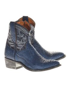 MEXICANA Python Blue              Python leather cowboy boots