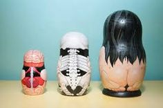 Image result for painted modern nesting dolls