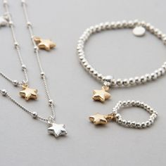 Anything featuring stars is huge this season. Why not treat yourself to our Katy Stars Necklace with our Madison Star Bracelet & Coco Star Ring. All products available via our online store on the below link