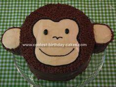 Monkey Birthday Cake Design Cake make Birthdays and Cakes