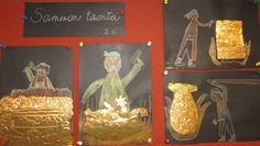 www.hameenlinna.fi - Oppilaiden töitä 2012-2013 Art Plastique, Teaching Art, Form, Finland, Art Lessons, Mythology, Art For Kids, Classroom, Children