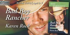 On Tour with Prism Book Tours Bad Boy Rancher (Rocky Mountain Cowboys #3) by Karen Rock Contemporary Romance Paperback & ebook, 368 pages April 1st 2018 by Harlequin Heartwarming  He's not the only one who needs saving…  But maybe they can save each other?  Dark, brooding, dangerous…and possibly suicidal.   #BookReview #ContemporaryRomance #Excerpt #giveaway #Harlequin #newrelease #Series #Sweet