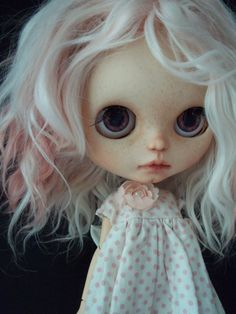 SOLD RESERVED for Francesca OOAK Blythe Doll by ArtDollKeepsakes