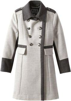 19112cbcdbfc3 Amazon.com  Rothschild Girls 7-16 Big Faux Wool Military Style Coat