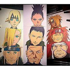 inoshikacho credit to artist . Time 10 Naruto, Naruto Shippudden, Naruto Fan Art, Naruto Shippuden Sasuke, Inojin, Shikadai, Shikatema, Wallpapers Naruto, Naruto Wallpaper