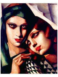 The Green Turban by Tamara de Lempicka. Probably my favorite painting...fell in love with it when I saw it. Has always been a tattoo idea, if done properly :)