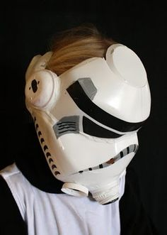 storm trooper mask from milk jugs