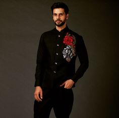 Black party wear dress Mens Sherwani, Black Party, Party Wear Dresses, How To Wear, Style, Fashion, Gowns For Party, Swag, Moda