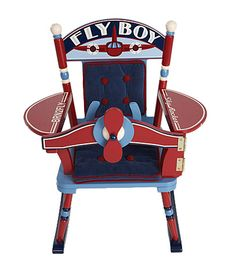 This unique rocking chair has all the components that your little pilot would want or need to be ruler of the skies.