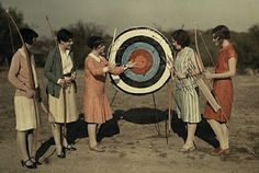 Women Archers -- Austin, Texas -- 1928 (NatGeo)