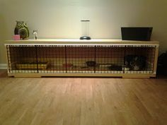 A DIY guinea pig cage using ikea furniture...it's like recycling, but easier!