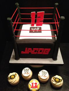 Let's get ready to rumble! My first try at a WWE themed cake. When I got the request I had the deer in the headlights look.There really i...