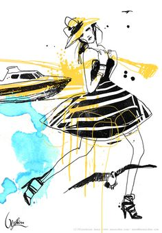 fashion illustration by Anna Ulyashina, via Behance