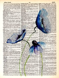 Dictionary Art Print Vintage art Drawing print poster wall decor flowers decor Office decor Home Living May flowers 2 Newspaper Painting, Newspaper Art, Art Vintage, Poster Vintage, Poster Wall, Poster Prints, Art Prints, Book Page Art, Book Art