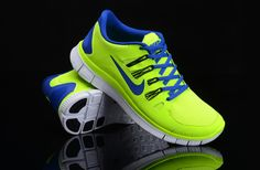 new style d7113 f3711 Herren Nike Free Run 5.0 Schuhe Green Fluorescent Air Force One Shoes, Nike  Air Force