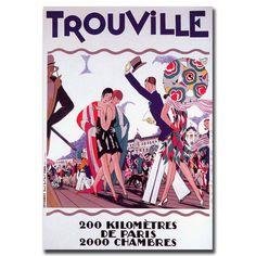 'Trouville' Vintage Advertisement on Canvas