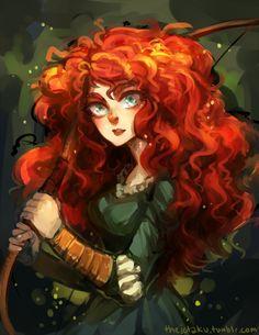 Anime Merida | Tags: Anime, Bow (weapon), Archery, Disney, Jotaku, Pixar, Brave ...