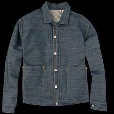 Levi's Vintage Clothing - 1880 Triple Pleat Blouse in Rigid Americana Vintage, Vintage Levis, Denim Jacket Men, Denim Men, Vintage Outfits, Vintage Clothing, Weekend Wear, Western Shirts, Textiles