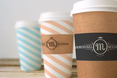We have featured many coffee cup designs lately, with a growing trend  towards graphics and bursts of color. With so many independent coffee shops  on the rise, the coffee cup has become the branding element du jour with  many brands using it as an extension of the customer experience. Another  example of this is is Mignon, a coffee shop from the south of France with a  rich history dating back to 1890.