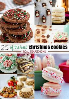 This year, I'm making 25 of the Best Christmas Cookies to stuff our cookie plates and spread some cheer! via @realhousemoms