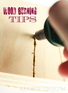 Wood burning tips using a Wood Creative Woodburner Pen.  By: Alisa Burke