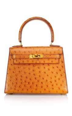 0632fff4d5a Hermès - Vintage - 20cm Cognac Ostrich Mini Kelly Vintage Handbags
