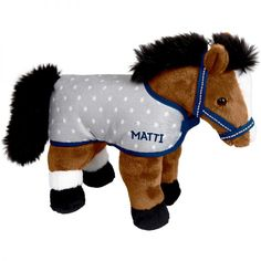 Beautiful Bay Cuddly Pony Matti Is The Perfect Soft Toy For Any Bedroom Comes With Rug Headcollar Size Rox 27 X 23 Cm