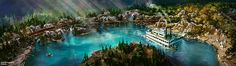 First Look at New Rivers of America Waterfront and Disneyland Railroad at Disneyland Park in California