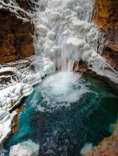 Johnston Canyon in Banff National Park, Alberta, Canada...