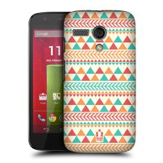 HEAD CASE LIGHT RED AND ORANGE AZTEC PATTERN SERIES 2 CASE FOR MOTOROLA MOTO G