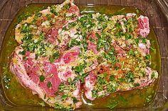Lemon oregano marinade by Muckeli Steak Marinade Red Wine, Steak Marinade Recipes, Beef Recipes, Spareribs, Vegan Pesto, Juicy Steak, Pork Sandwich, Food And Drink, Stuffed Peppers