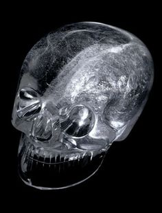 Rock Crystal skull, A life-size carving of a human skull made from a single block of rock crystal, via British Museum