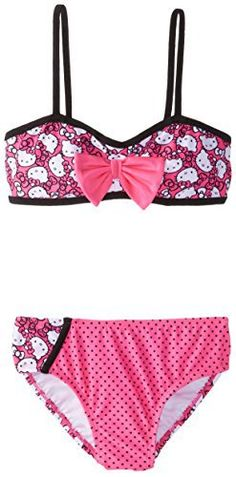 Hello Kitty Big Girls' Playful Bikini Set, Hot Pink, 10/12 //Price: $30.33 & FREE Shipping // World of Hello Kitty https://worldofhellokitty.com/product/hello-kitty-big-girls-playful-bikini-set-hot-pink-1012/    #hellokitty