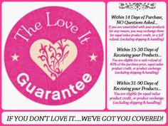 "Each time you see this seal on a photo or product, remember what it represents! Younique's ""14-day Love It Guarantee"" assures you that if within 14 days of receiving your product you don't LOVE it, you get your money back! We have awesome customer service! Visit http://www.fabulashesbyjenniferlynn.com"