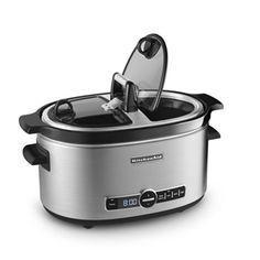 ShopKitchenAid: KitchenAid® 6-Quart Slow Cooker with Easy Serve Lid KSC6222SS