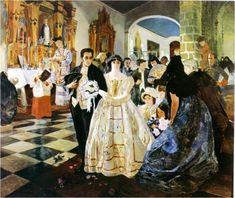 """Venezuela """"Matrimonio de Simón Bolívar"""" (1921) Tito Salas"""