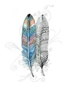 Feathers Fancy Feathers 5x7 inches Giclee Print Colorful Archival Limited | eBay