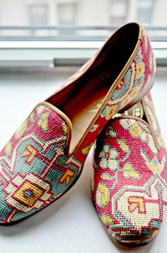It would take a pretty fantastic guy to pull off these Stubbs & Wootton loafers, but man would I be into him!