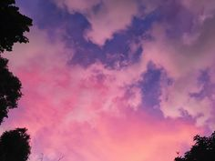 Cotton Candy sunset sky. Pink