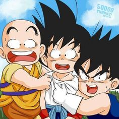 Krillin,Goku, and Vegeta