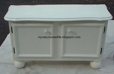 Window seat out of old cabinets