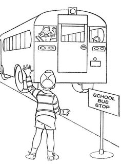 School Bus Coloring Pages For Your Little Ones