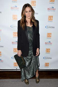 Sarah Jessica Parker's silver dress.