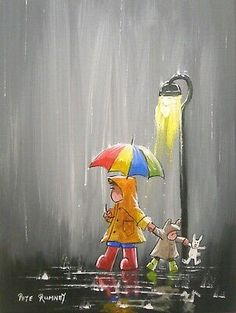 Im painting more in this theme due to more requests, hope you like my new additions 😁😁 This one is available right here - Rain Art, Umbrella Art, Street Lamp, Hand Painting Art, Buy Art, Original Paintings, Sketches, Hand Painted, Illustration